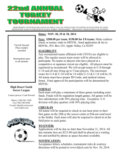 Tournament Flyer - High Desert Youth Soccer League