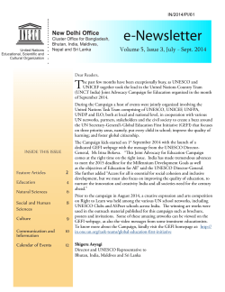 UNESCO New Delhi newsletter