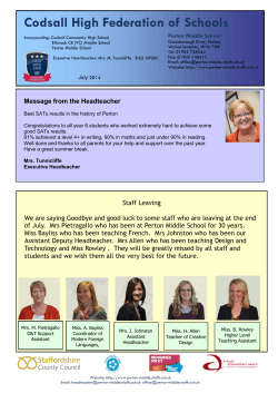 July 2014 newsletter - Perton Middle School