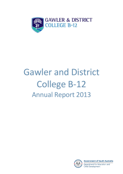 School Data Template - Gawler and District College B-12