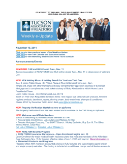 Weekly e-Update 11/10/14 - Tucson Association of REALTORS