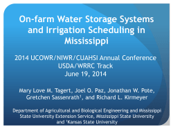 On-farm Water Storage Systems and Irrigation Scheduling in