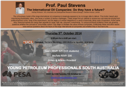 Prof. Paul Stevens - Society of Petroleum Engineers, South Australia