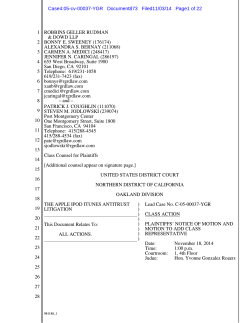 Case4:05-cv-00037-YGR Document873 Filed11/03/14 Page1 of 22