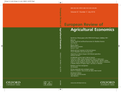 Front Matter (PDF) - European Review of Agricultural Economics