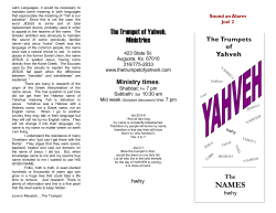 Names - The Trumpet of Yahveh