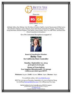 Betty Yee - Equality California