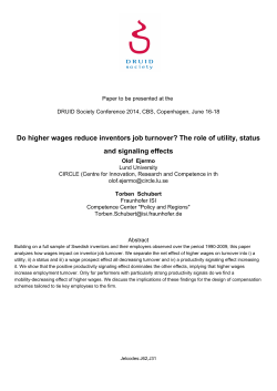Do higher wages reduce inventors job turnover? The role of utility