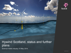 Hywind Scotland, status and further plans