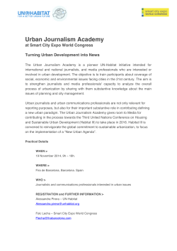 Urban Journalism Academy - Smart City Expo World Congress