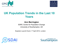UK Population Trends in the Last 10 Years