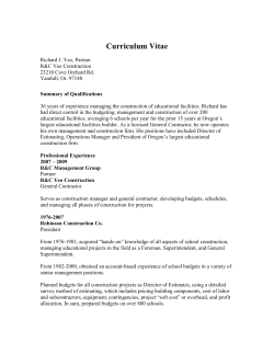 Rick Yeo Curriculum Vitae - Scappoose School District