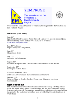 Report of the YEM AGM - British Naturism Yorkshire and East