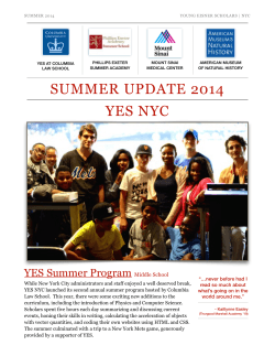 SUMMER UPDATE 2014 YES NYC