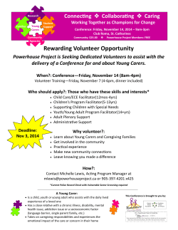 Volunteer Conference Information