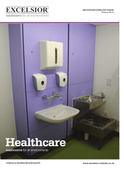 Healthcare Data Sheet - Excelsior I Washrooms for all environments