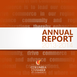 2013-2014 Annual Report - Columbia Chamber of Commerce
