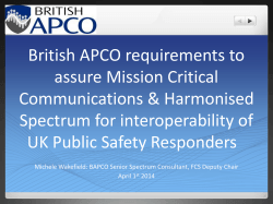 British APCO requirements to assure Mission Critical