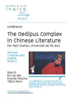 The Oedipus Complex in Chinese Literature ( / 797.75Ko)