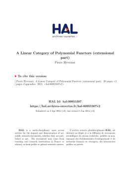 A Linear Category of Polynomial Functors (extensional part)