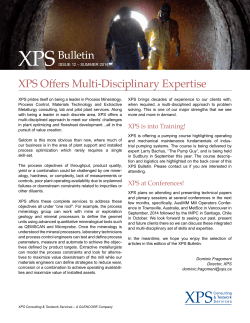 XPS Bulletin Issue 12