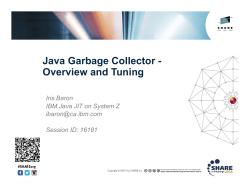 Java Garbage Collector - Overview and Tuning