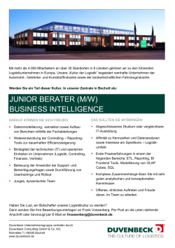JUNIOR BERATER (M/W) BUSINESS INTELLIGENCE