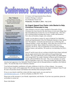 Conference Chronicles - Free Methodist Southern Michigan