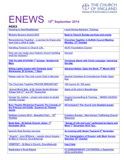 ENEWS 19 - The Diocese of St Edmundsbury and Ipswich