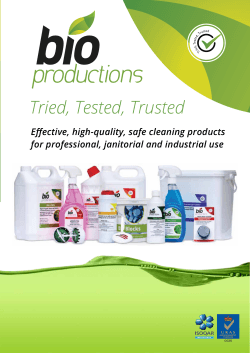 Our products Tried, Tested Trusted - Bio