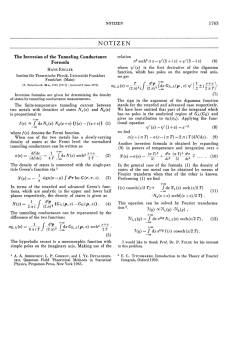 The Inversion of the Tunneling Conductance Formula