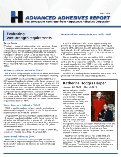 Newsletter May 2014 - Harper/Love Adhesives