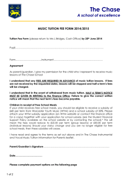 Music Tuition fee form 2014-2015