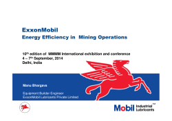 Energy Efficiency in Mining Operations