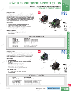 PQube XCT CT Ethernet Catalog Page