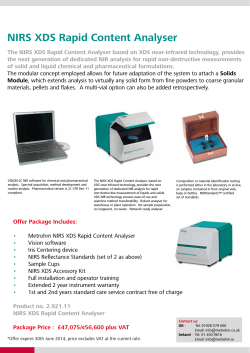 NIRS XDS Rapid Content Analyser