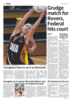 Grudge match for Rovers, Federal hits court