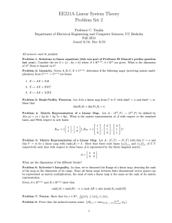 EE221A Linear System Theory Problem Set 2