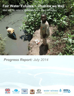 Uhakika wa Maji July 2014 - Water Witness International