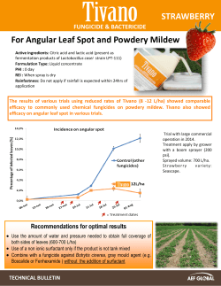 STRAWBERRY For Angular Leaf Spot and Powdery