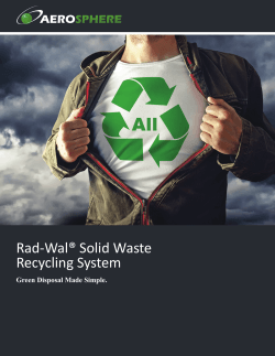 Rad-Wal® Solid Waste Recycling System