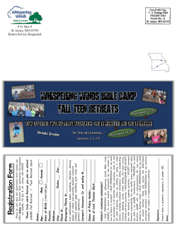 Fall Retreat Brochure - Website
