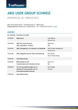 ARIS USER GROUP SCHWEIZ - Software AG