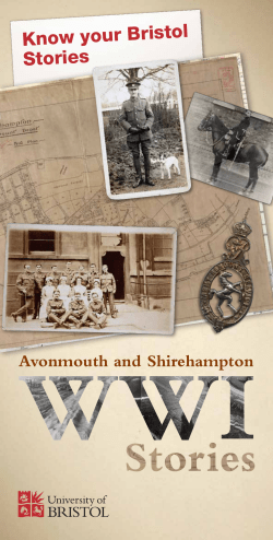 Know your Bristol Stories - Avonmouth and Shirehampton WWI