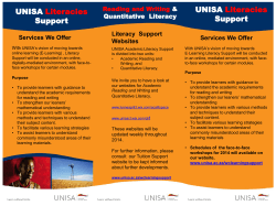 Literacies Information Brochure