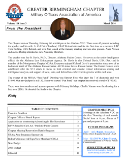 MOAA MARCH 2014 Newsletter - Military Officers Association of