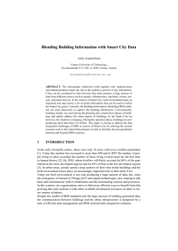 Blending Building Information with Smart City Data - CEUR