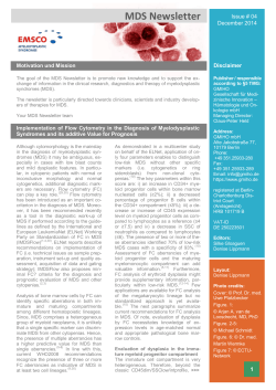 EMSCO MDS Newsletter edition # 04