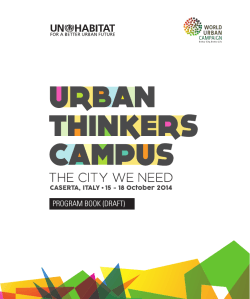 Urban Thinkers Campus - American Planning Association