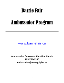Barrie Fair Ambassador Program